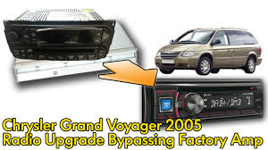 chrysler voyager 2005 factory radio and amplifier bypass youtube