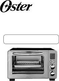 Oster Toaster Oven Manual Oster Oven Tssttvdg01 User Guide Manualsonline Com