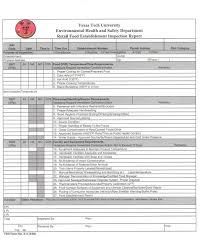 Field Inspection Report Template by Food Inspection Report Recipes Food