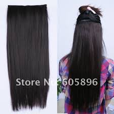 real hair extensions clip in 30inch 24inch synthetic 5 clip in hair extension black