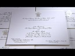 royal wedding invitation prince harry and meghan markle s royal wedding invites unveiled