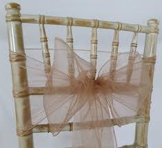 Gold Chair Sashes Organza Sash Rose Gold Vintage