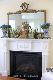 spring mantel in the family room mantels country and spring