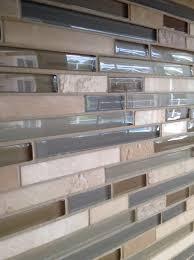 kitchen backsplash travertine and glass home design ideas