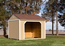 Mini Barns Michigan Small Horse Barn Or Run In Shed Millers Mini Barns