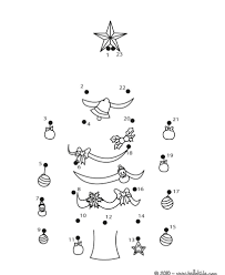 comely holly bells xmas tree dot to to dot game free kids games