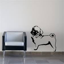 pug home decor vinyl wall stickers picture more detailed picture about pug dog
