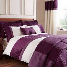 Dunelm Mill Duvets Adalene Embroidered Plum Duvet Cover Dunelm