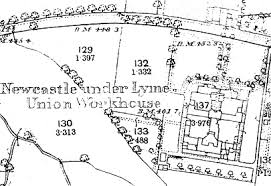 map of newcastle lyme newcastle lyme workhouse and poor union