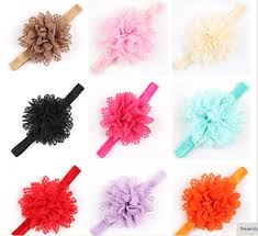 wholesale headbands 5 wholesale infant headbands shabby chic flowers pearl
