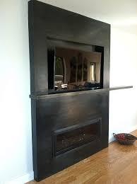 blackened steel modern fireplace u2014 upper story design