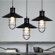 Industrial Light Fixtures For Kitchen Vintage Inspired Kitchen Lighting Retro Style Light Fixtures Black