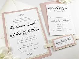 beautiful blush and ivory wedding invitation set mauve pink