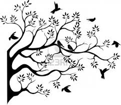 black and white birds on tree clipart clipground
