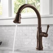 delta bronze kitchen faucet delta faucet 9197 dst cassidy single handle pull kitchen