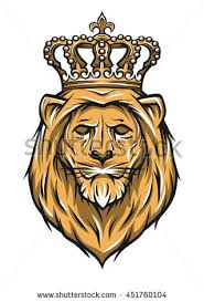 head lion crown color version stock vector 371293687 shutterstock