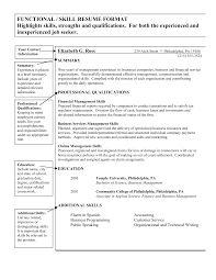 resume skills and qualifications gse bookbinder co