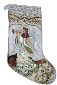 christmas needlepoint gold horn angel needlepoint christmas for the
