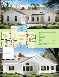 Modern Farmhouse Floor Plans One Story Farmhouse House Plans Hahnow