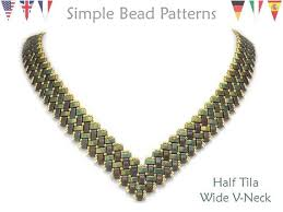 new necklace patterns images New beading tutorial pattern miyuki half tila two hole beads etsy jpg