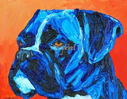 boxer dog art stunning