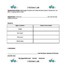 5th grade science worksheets friction is a force science