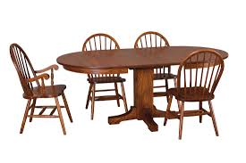 image albany single pedestal dining table gorgeous amish made