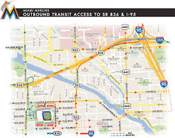 Sarasota Zip Codes Map by Driving Directions To Marlins Park Marlins Com Ballpark