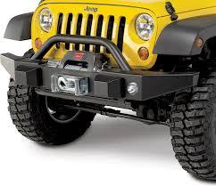 jeep wrangler road bumper mopar 82213575 front road bumper with winch mount oe fog