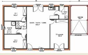 plan de maison 3 chambres salon 7 et photos 84 m systembase co