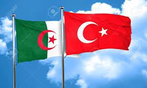 Algerian Flag Algeria Flag With Turkey Flag 3d Rendering Stock Photo Picture