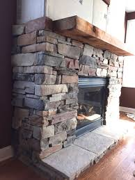 refacing brick fireplace with stone veneer simple installing