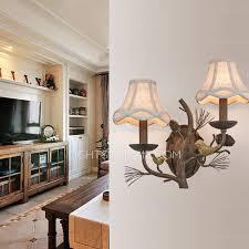 Bird Sconce 2 Light Fabric Shade Bird Shaped Decorative Sconces Wall