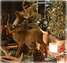 Christmas Reindeer Decorations Canada by Dining Delight Canadian Lodge Inspired Christmas Tablescape