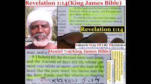 revelation 1 14 king james bible jesus christ hair white like
