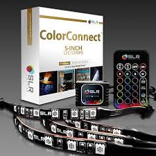 Kitchen Under Cabinet Tv by 4pc Multi Color Rgb Led Strip Kit 5 Inch Pre Cut Accent Light