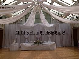 wedding backdrop prices wholesale price new design white wedding backdrop curtain for