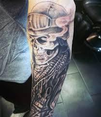 forearm skull pilot army s tattoos
