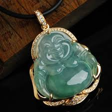 natural jade necklace images Buy 18k gold jewelry gold pendant natural ice kinds of jade color jpg