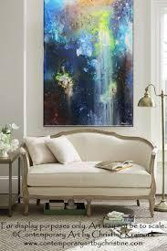 sold original art abstract painting modern blue textured urban