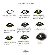 easy wolf eye turtorial by snorgolwolks on deviantart