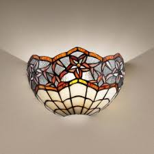 Tiffany Style Wall Sconces Decorative Tiffany Style Lighting Art Deco Designer Made In Italy