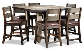 Dining Room Set 7 Piece Allison Pine 7 Piece Pub Height Dining Room Set Antiqued Pine