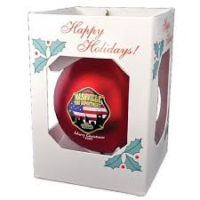 satin finished shatterproof promotional ornaments