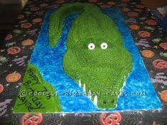 lick the spoon crocodile or alligator cake how to build the cake