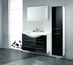 black bathroom cabinet ideas with contemporary high gloss benevola