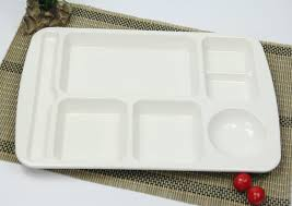 tray plates white plastic melamine fast food tray plate lunch box