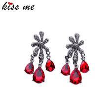 Red Chandelier Earrings Online Buy Wholesale Red Chandelier Earrings From China Red