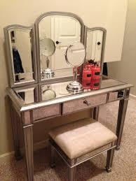 Makeup Stool Mirrored Makeup Vanity And Stool Doherty House Beautiful