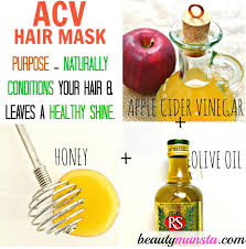 how to make hair strong apple cider vinegar hair mask for shiny silky locks beautymunsta